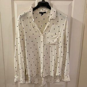 Tops - Heart-print shirt